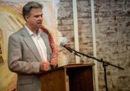 David Swanson, director of WorldBeyondWar.org, at EMU